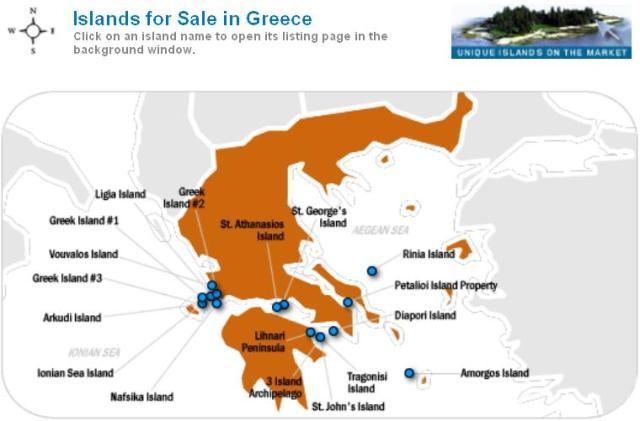 Ελληνικά νησιά για πούλημα