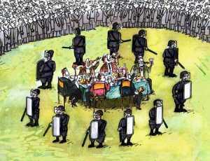 Η κυβέρνηση της συμμορίας των αγορών ξεκίνησε την επίθεση στο ΛΑΟ με βία και τρομοκρατία