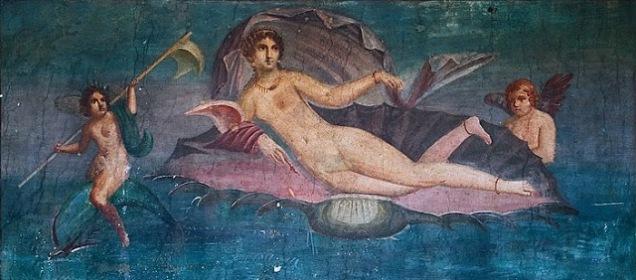 Καμπάσπη_Pompeii_τοιχογραφία από την Πομπηία πιστεύεται ότι βασίζεται σε Απελλή Αφροδίτη Αναδυομένη,